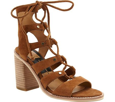 Women's Dolce Vita Lyndon Ghillie Cage Sandal - Dark Saddle Suede with FREE…
