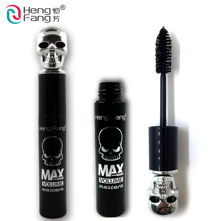 Skull Shape Lengthening Mascara Curling Thick Mascara Maximum 14g 2016 New Arrival Eyes Makeup Brand HengFang