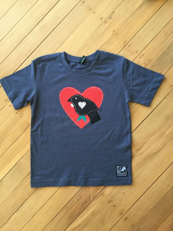 Kids Grey Tui Tee by SonjaHandcraftedTees on Etsy