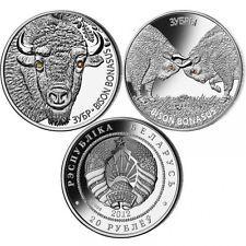 BIELORUSIA 20 rublos 2012 Bisontes 2 x 1oz Bison and Bisons Bonasus BELARUS