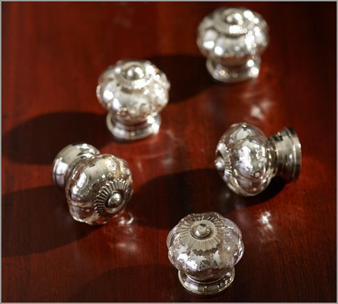 mercury class knobs for kitchen cabinets: Mercury Glasses, Glass Knobs, Potterybarn, China Cabinets, Hardware, Glasses Knobs, Drawers Pull, Barns Mercury, Pottery Barns