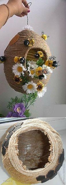 Пчелиный улей из шпагата — Рукоделие
