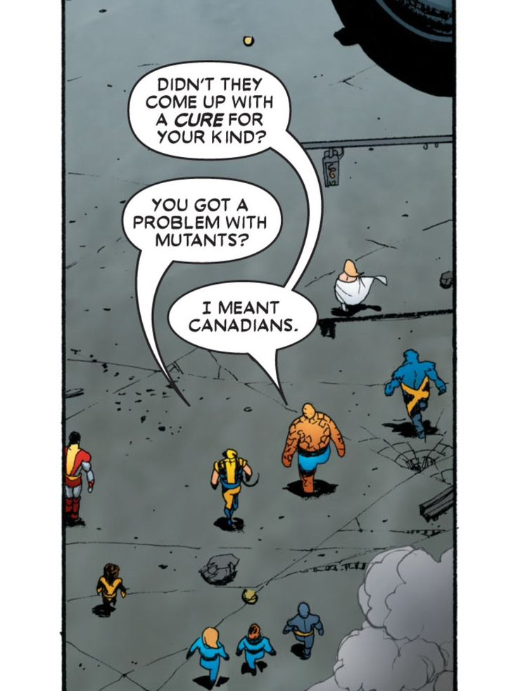 I was re-reading Joss Whedon's Astonishing X-Men run and came across probably one of my favorite lines of the run. - Imgur
