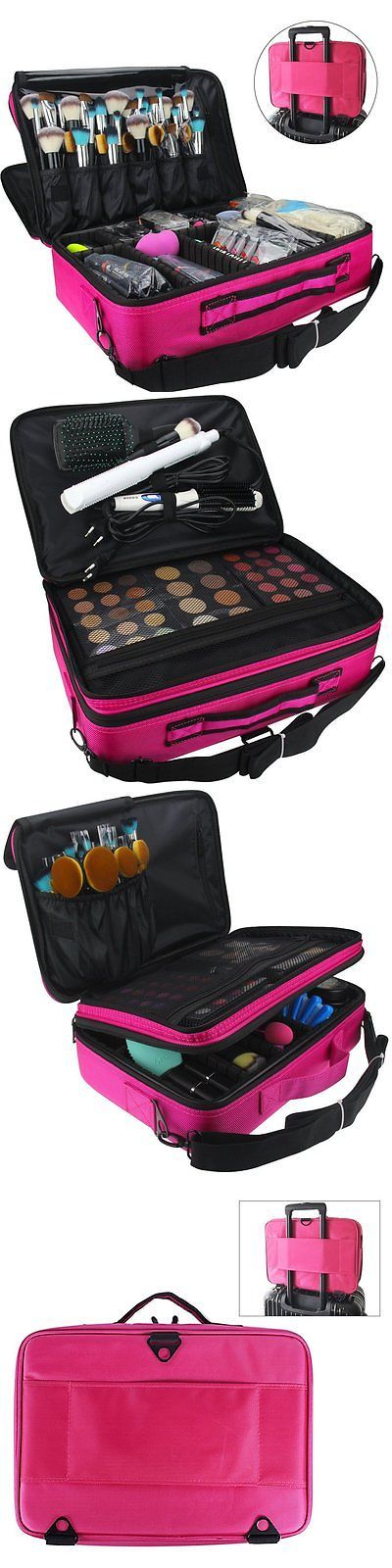 Beauty Makeup: Travelmall Cosmetic Case Makeup Box Organizer Bag Professional Beauty Train Case BUY IT NOW ONLY: $66.12