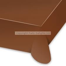 brown tablecloths