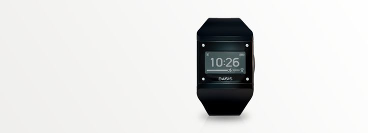 Basis Wristband tracks sleep, fitness, calories, activity, heart rate.