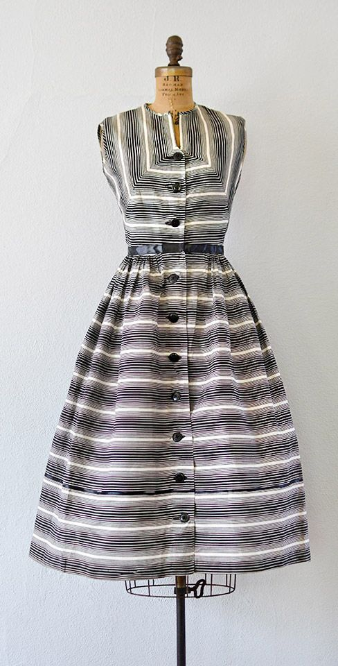 vintage 1950s BRIDGE SYNERGIES dress from Adored Vintage #1950s #50sdress