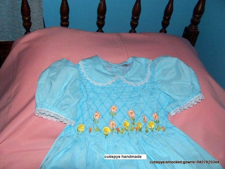 smocked hand embroidered by cutiepye australia 0427820733