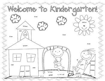 first day coloring worksheet kindergarten - Back To School Worksheets For Kindergarten
