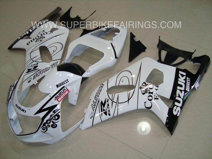 2001-2003 GSXR-600 750 Black & White Corona Fairings