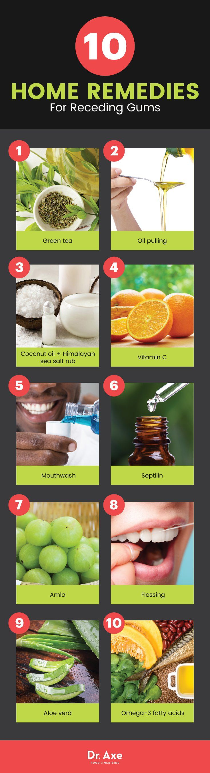 10 receding gums home remedies - Dr. Axe http://www.draxe.com #health #holistic #natural #diy