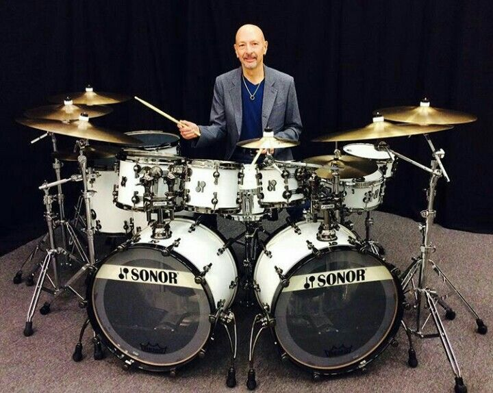 Steve Smith From Journey And His Sonor Kit Sonor Drums Drum And Bass