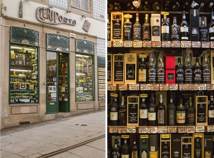 For wine lovers! The wine shop Cleriporto is a true must-see! Beautiful facade and interiors. in Porto, Portugal