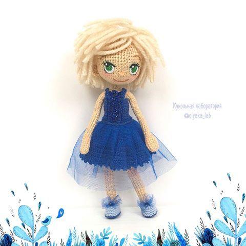 Новая малышка Таисия немного стесняется Рост 18см связана на заказ по… ♡ lovely doll