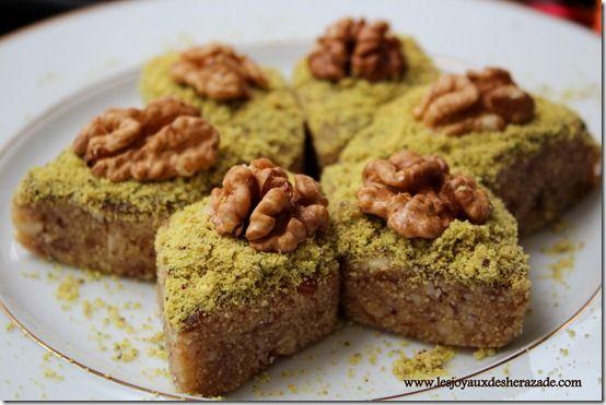 Pâtisserie tunisienne / Hrissa hloua - Les joyaux de sherazade : Recettes de cuisine algerienne et de monde.