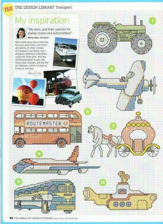 #gráfico ponto cruz #ponto cruz #Transport
