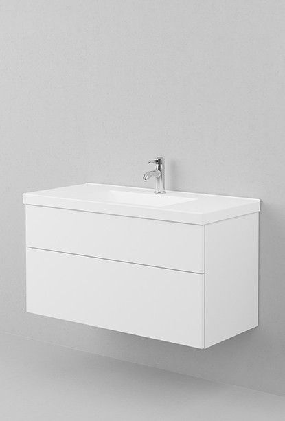 Viskan underdel 100 (delad front) - Moderna badrumsmöbler, Viskan – Aspen Badrum