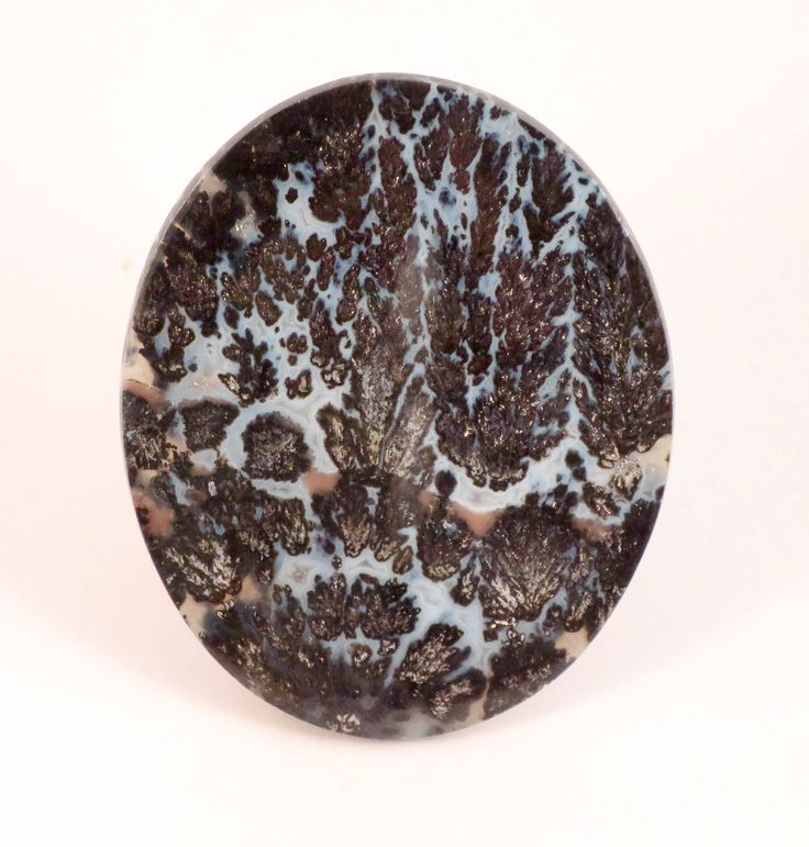 Canadian River Plume Agate Cabochon, Vintage Designer Agate, Texas http://etsy.me/2AWH2l0 #agate #cabochon #plumeagate #canadianriverplumeagate