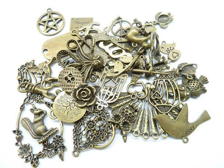 100 g ( 50 ~ 80 шт) произвольный смешивать стили античное серебро, Антикварный бронза цинковый сплав подвески талисманы кулон купить на AliExpress