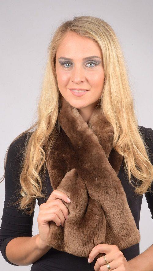 Sciarpa pelliccia in castoro naturale   www.amifur.it
