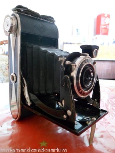 Antigua cámara de fotos alemana de fuelle plegable Agfa Billy Record 7,7 1933/42