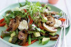 Barbecued Mushroom salad