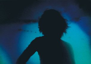 Clare Langan, 'Forty Below - Submerged Figure' (1999), film still, digital print on aluminium, TCD Art Collections. © Clare Langan