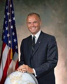 "John Herschel Glenn, Jr. (born July 18, 1921), (Col, USMC, Ret.), is a former U.S. Marine Corps aviator, engineer, astronaut and United States senator. He was selected as one of the ""Mercury seven"" group of military test pilots selected in 1959 by NASA to become America's first astronauts and fly the Project Mercury spacecraft. On February 20, 1962, Glenn flew the Friendship 7 mission and became the first American to orbit the Earth and the third person in space, after cosmonauts Yuri…"
