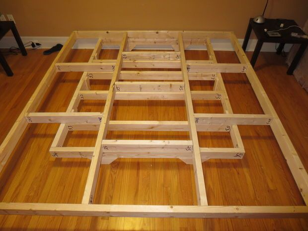 Growing tired of my boxspring on the floor I decided I wanted to create a bed frame that made it look like the bed was floating above the floor. - Ideas About Floating Bed Frame On Pinterest Floating