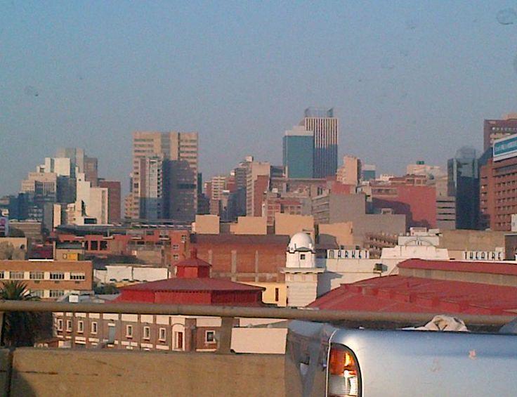 JHB city skyline - took photo while stuck in traffic