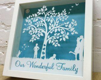 Items similar to Pebble art - christening - new baby - baby shower - love - family - friends - shadow frame - box frame - unique Art - drift wood - sticks - on Etsy