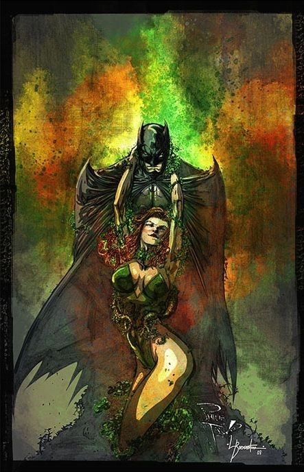 Batman and Poison Ivy by Philip Tan