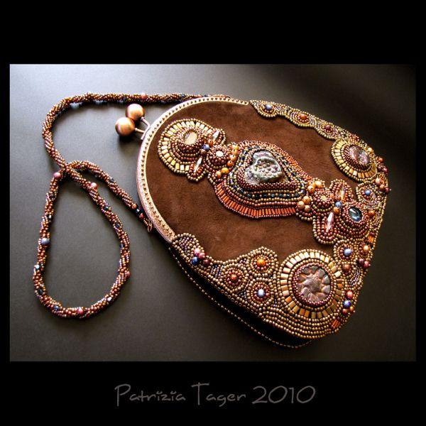 Arearea - Joyousness - OOAK Bead Embroidered Suede Bag