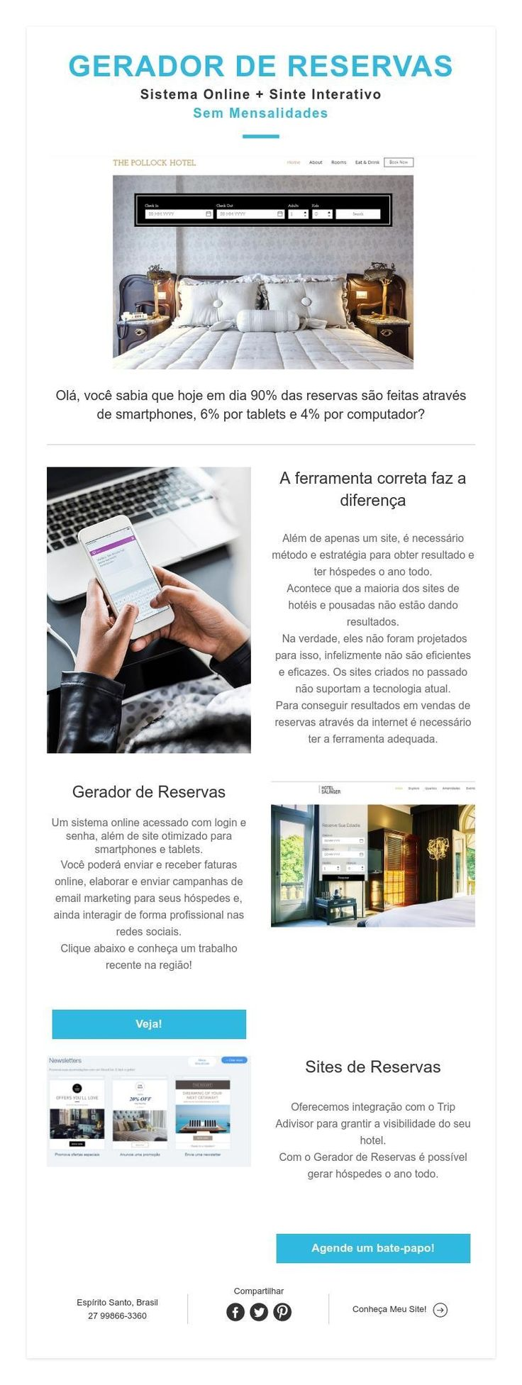 GERADOR DE RESERVAS  Sistema Online + Sinte Interativo  Sem Mensalidades