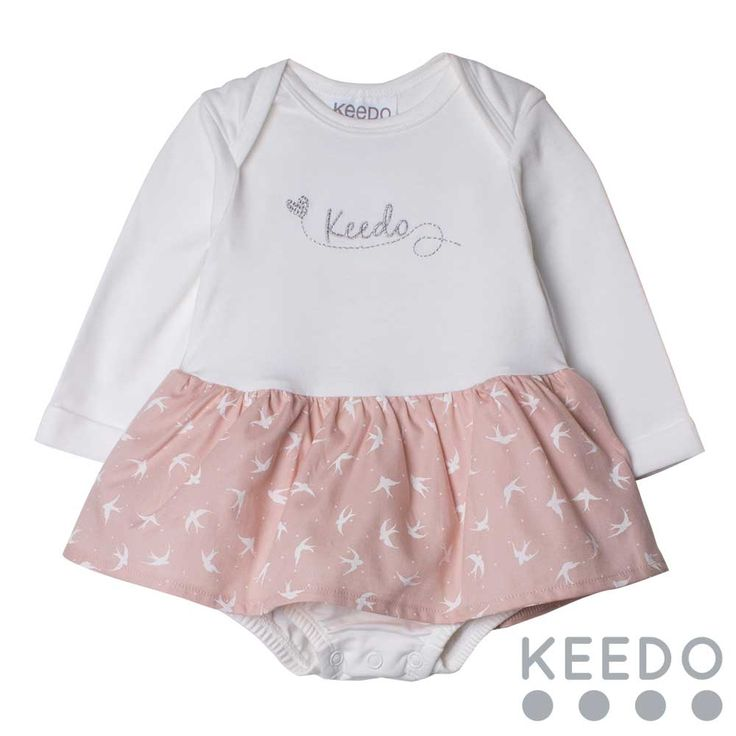 """Frill grow - A gorgeous """"tutu"""" style baby grow, perfect for the little princess in your life. Popper detail on the gusset helps make nappy changes easy!"""