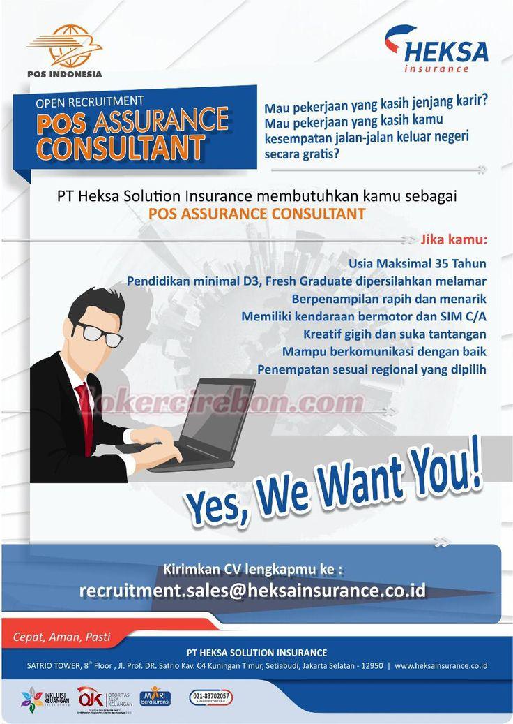 Lowongan kerja PT HEKSA Solution Insurance Asuransi jiwa