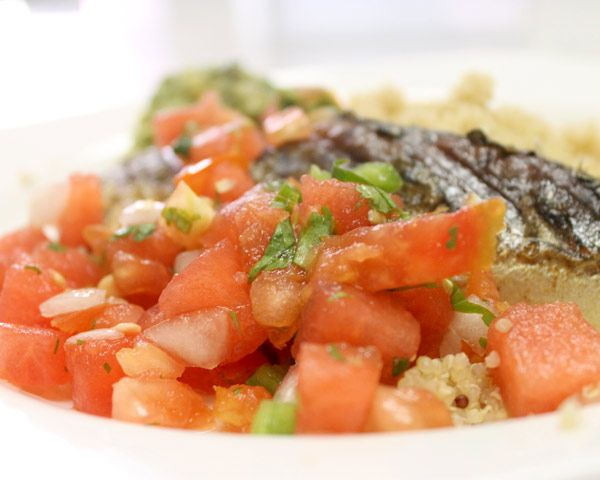 Grilled Fish with Watermelon Salsa