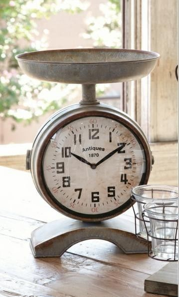 Vintage Style Grocery Scale Clock #Unbranded #VintageCountry
