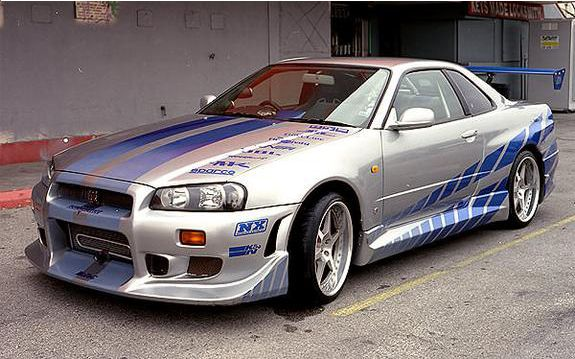 Paul walkers Nisan skyline r34 from 2 fast 2 furious watch it