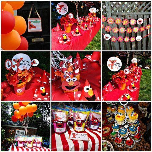 Elmo Party Theme:  http://www.perfect-parties.com/elmo-birthday-party.html  #elmo, #kidsparty