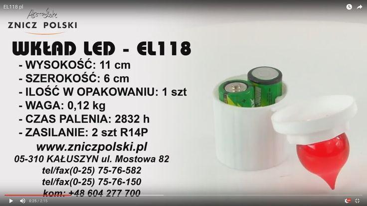Elektroniczny wkład LED do zniczy kapliczek i latarenek EL118 - czas pal...