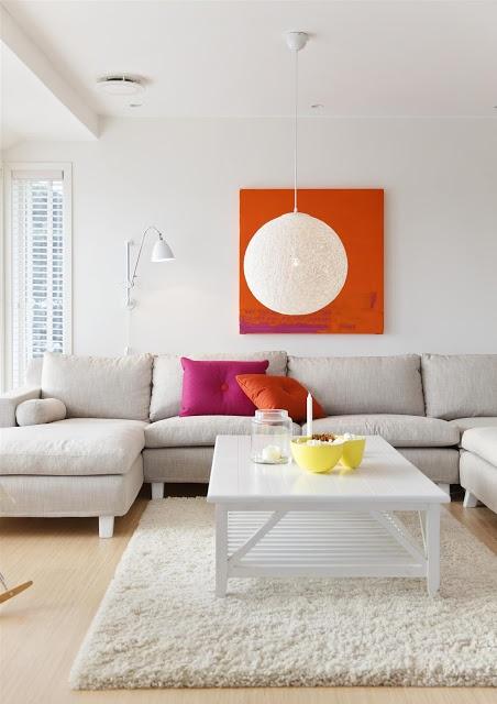 18 best 5Raum Wohnzimmer \/\/\/ Livingroom images on Pinterest - wohnzimmer orange grau