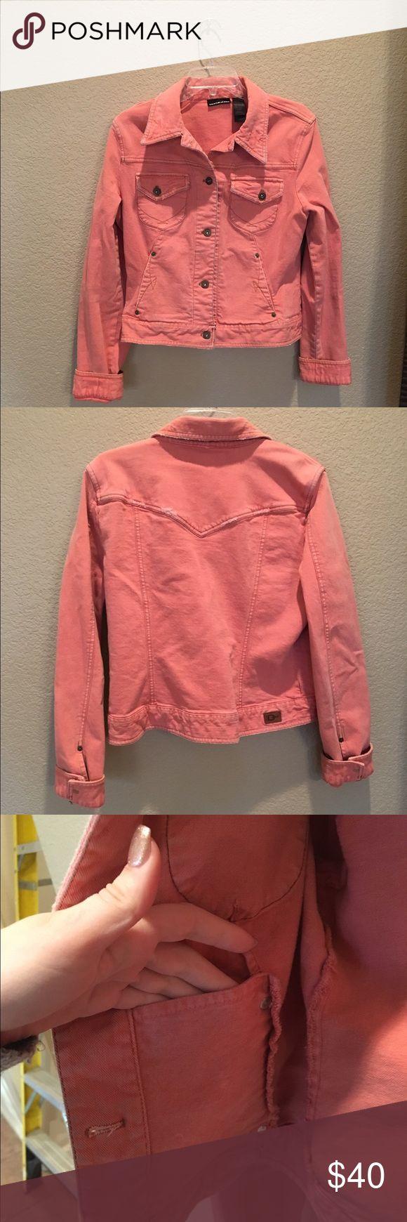 Peach Jean Jacket DKNY size large  Barely worn DKNY Jackets & Coats Jean Jackets