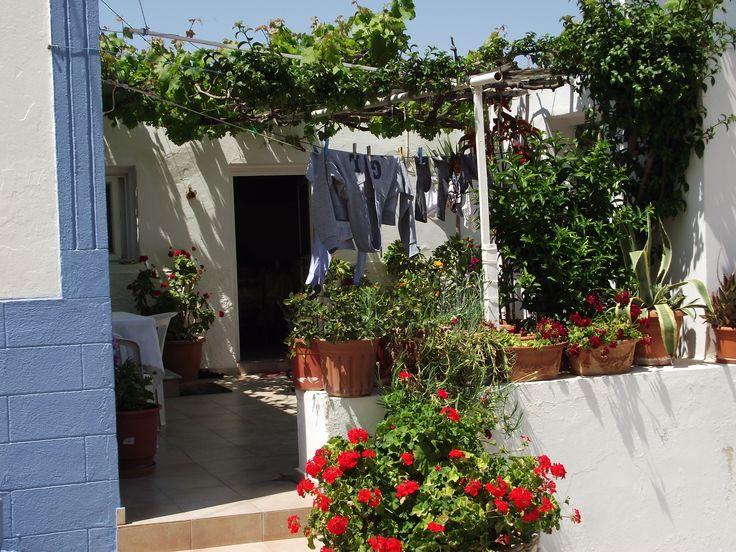 courtyard, Kefalos Village, Greece