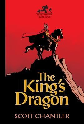 The King's Dragon (Three Thieves #4) - Scott Chantler.  In this fourth installment of the Three Thieves fantasy adventure series of graphic novels, Captain Drake's quest to find Dessa, Topper and Fisk has led him to a remote healing monastery where he believes they have gone to tend Dessa's broken leg. While pursuing his quarry, Captain Drake finds himself beset by memories of his early days as a young and idealistic knight in King Roderick's service.