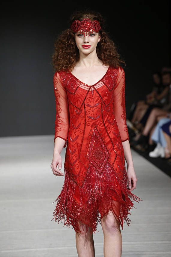 20s style red dresses