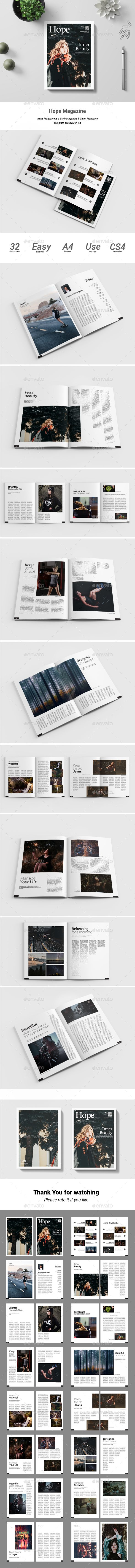 Hope Magazine #clean #backpacker  • Download here → https://graphicriver.net/item/hope-magazine/21176126?ref=pxcr