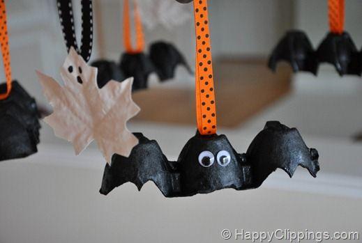 Egg Carton Bats