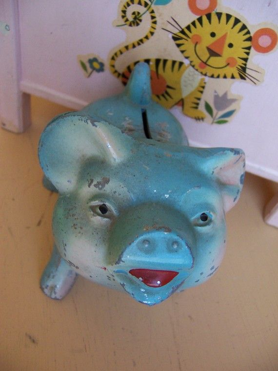 cast iron jackson county piggy bank by ricracandbuttons on Etsy