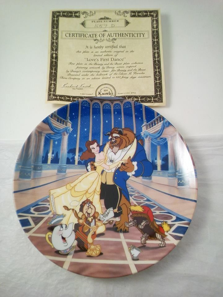 Beauty And The Beast Collectibles >> Disney S Beauty And The Beast Collectible Plate Love S First Dance